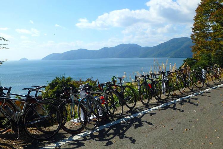 琵琶湖とロードバイク♪