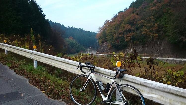 樫田トンネル手前にて。