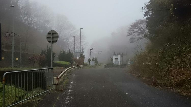 亀岡側は霧が出ています。